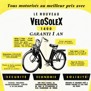 Velosolex 1400  the bicycle that rolls by itself