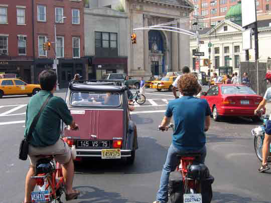 Solex et 2cv New York