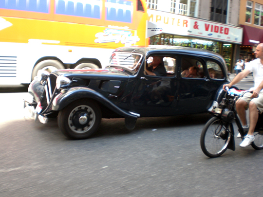 Citroën Traction Avant and Solex S 3800