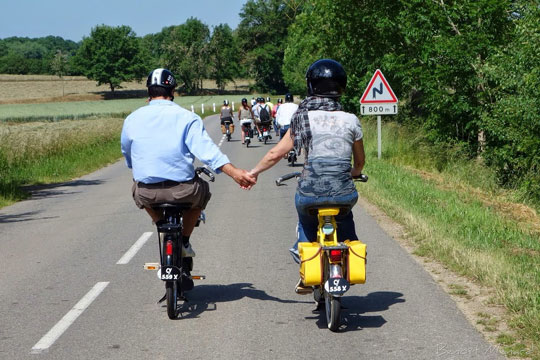 Un couple uni en Solex