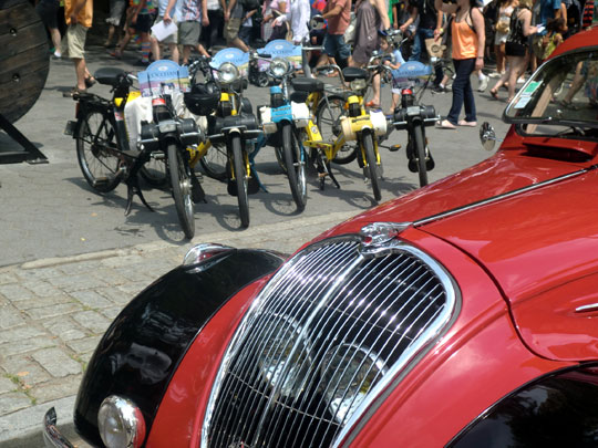 Peugeot 202 & Velosolexes at the Bastille Day Street Fair