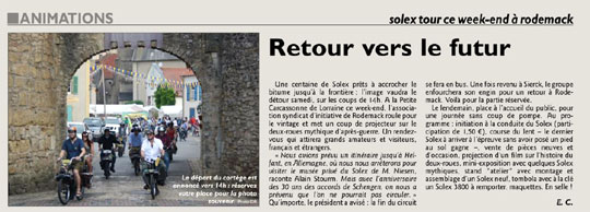 Journal de la Moselle Rodemack 2015