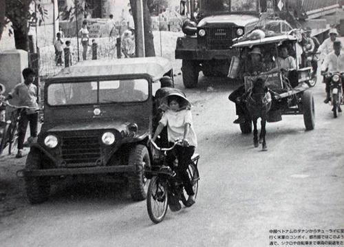 Vietnamienne en velosolex