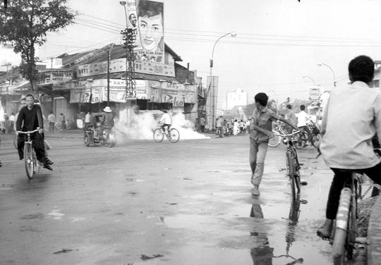 Explosion d'une bombe à Saïgon