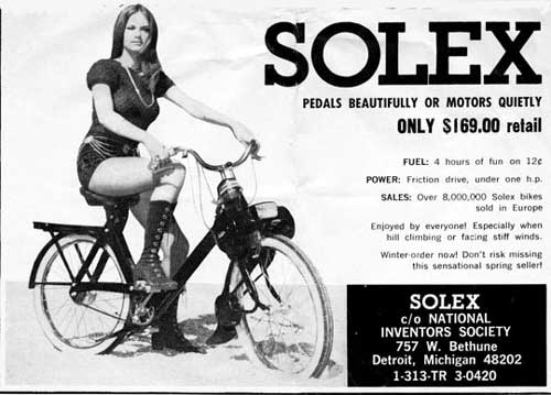 SOLEX Pedals beautifully or motors quietly