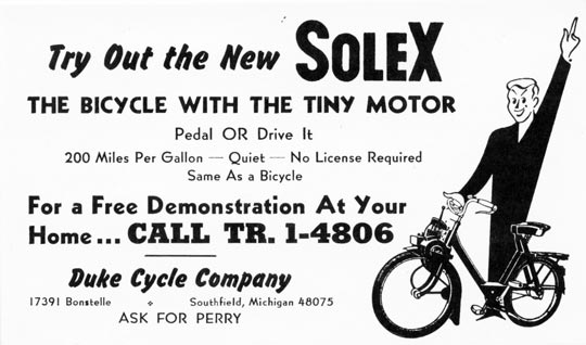 solex the bicycle with the tiny motor