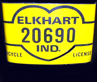 Bicycle License Indiana
