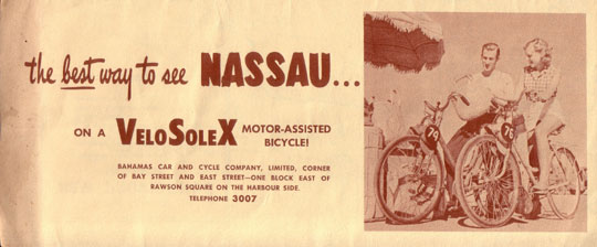 The best way to see Nassau on a VeloSoleX