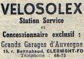 Velosolex Grands Garages d'Auvergne